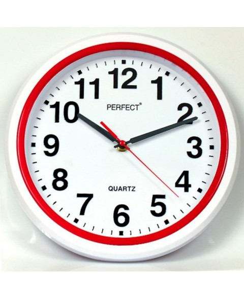PERFECT Wall clock FX-5841/RED