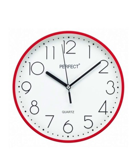 PERFECT Wall clock FX-5814/RED