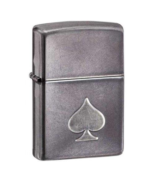 Lighter ZIPPO 28379 Stamped Spade Gray Dusk