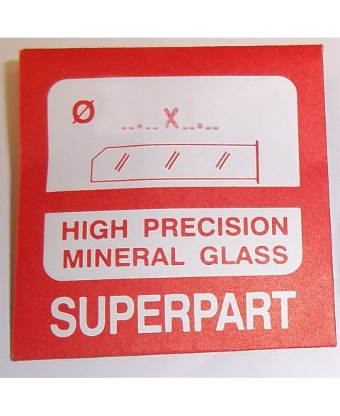 38.0X1,0mm Mineral. Glass for watches