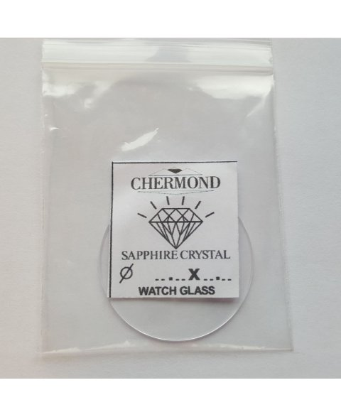34.5X1,5mm Mineral. Glass for watches