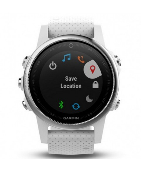 Garmin Fenix 5S - Silver with Carrara white band