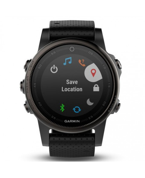 Garmin Fenix 5S Sapphire - Slate grey with black band