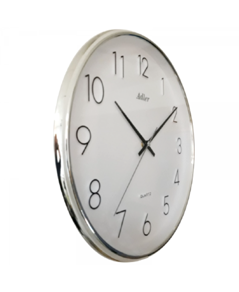 ADLER 30158SIL/WHQuartz Wall Clock